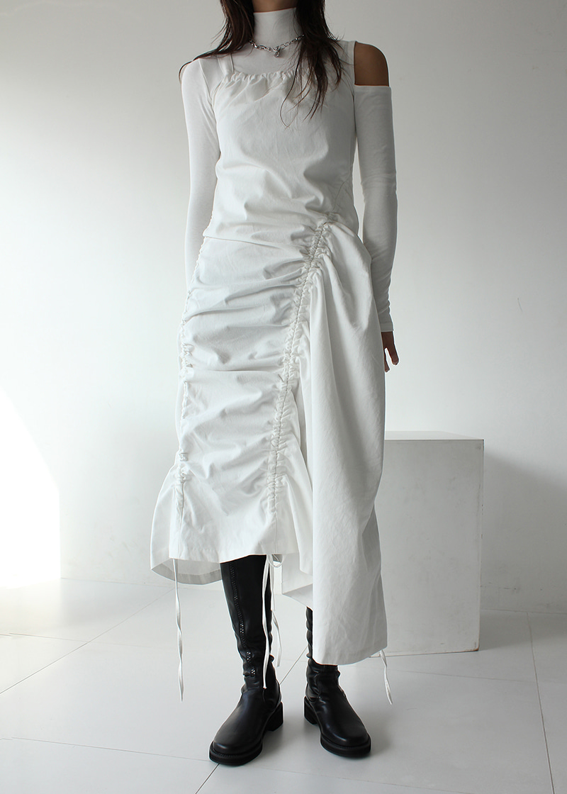 sleeveless tunnel long ops (white)