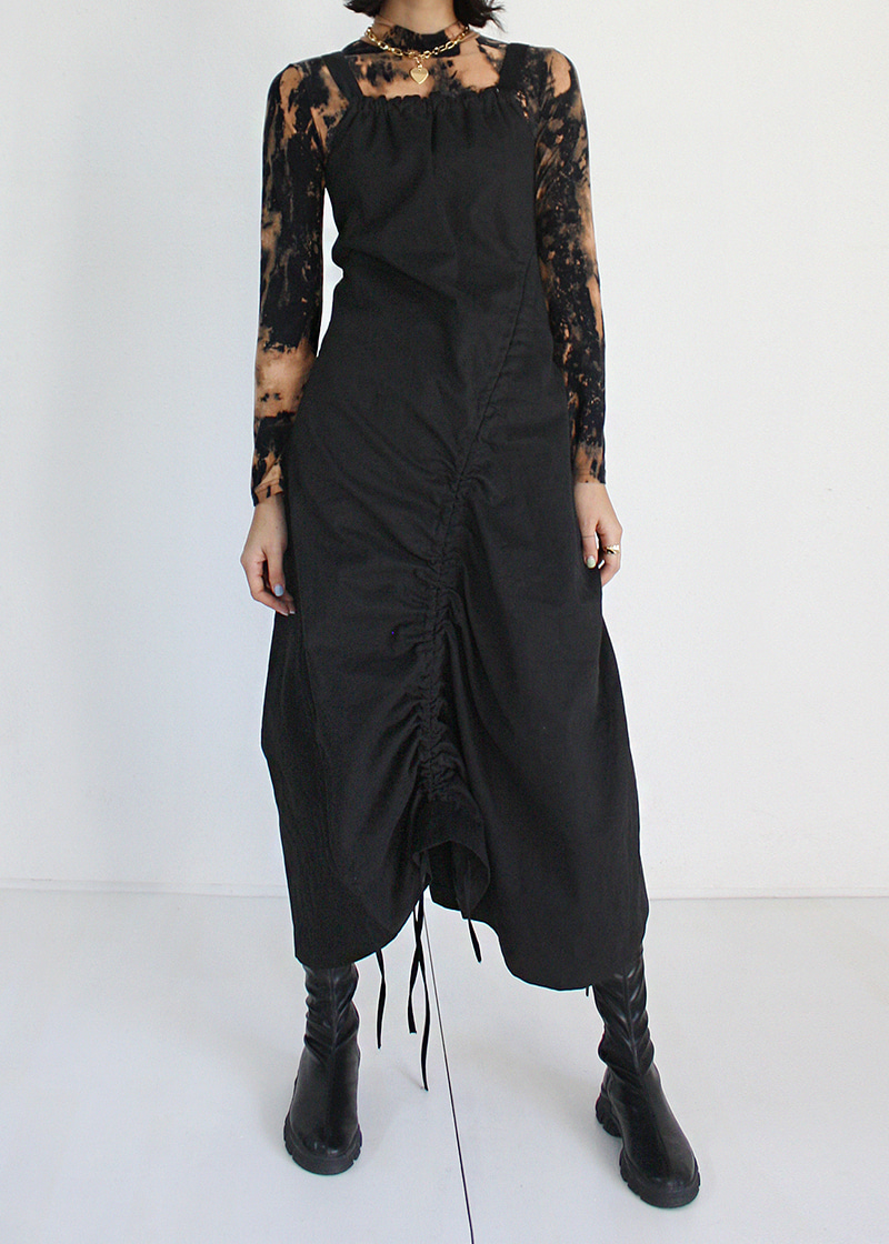 sleeveless tunnel long ops (black)