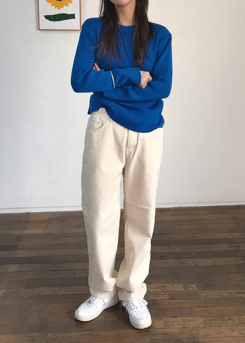 cozy button wide pants (2c)