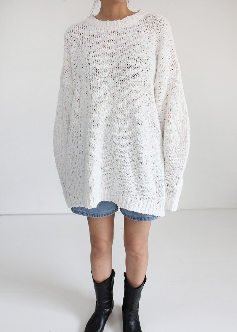 loose fit boucle knit (2c)