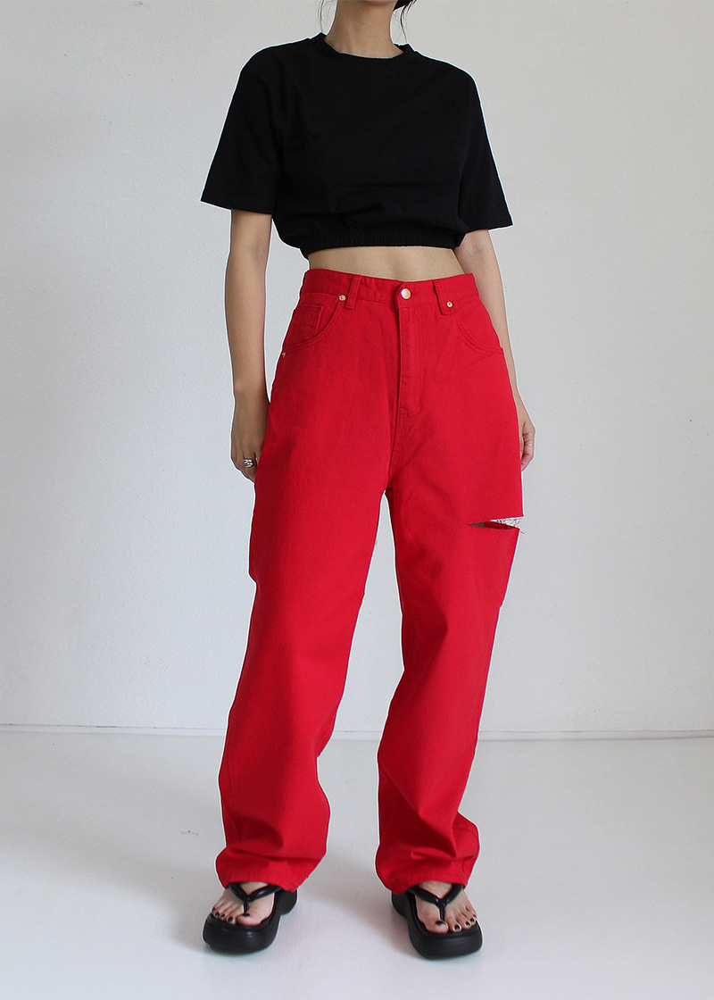 side slit color pants (3c)