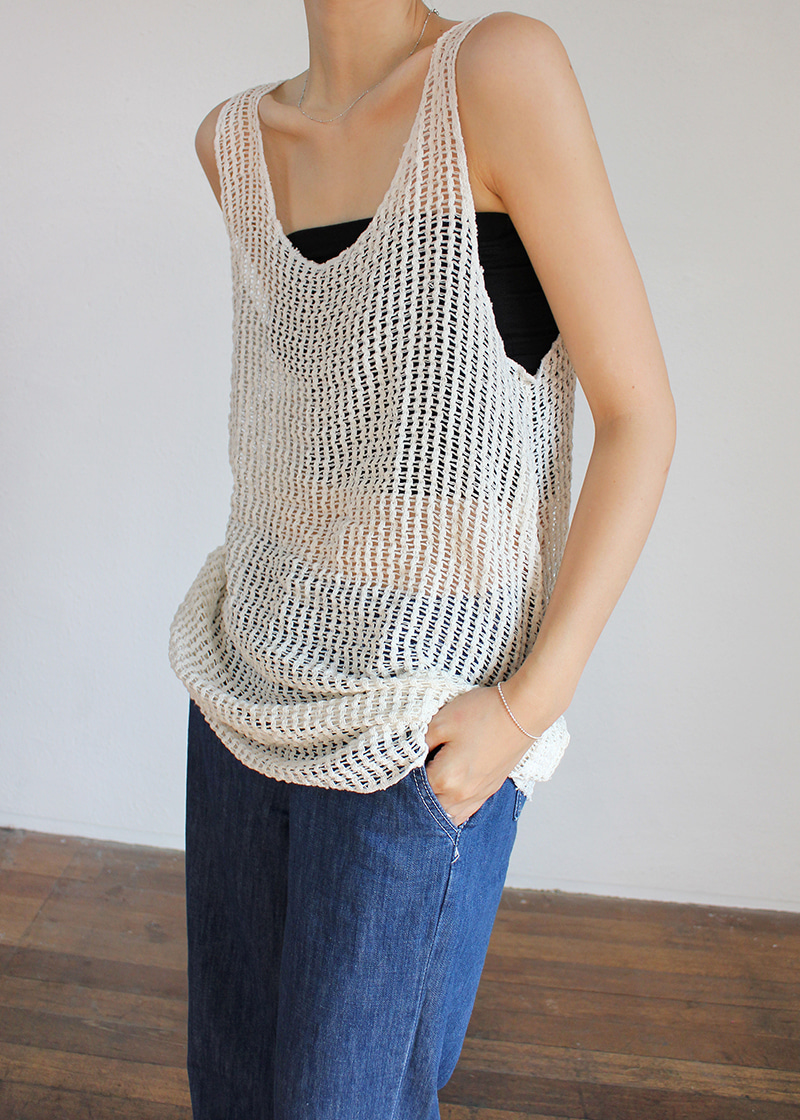 net sleeveless knit ops (2c)