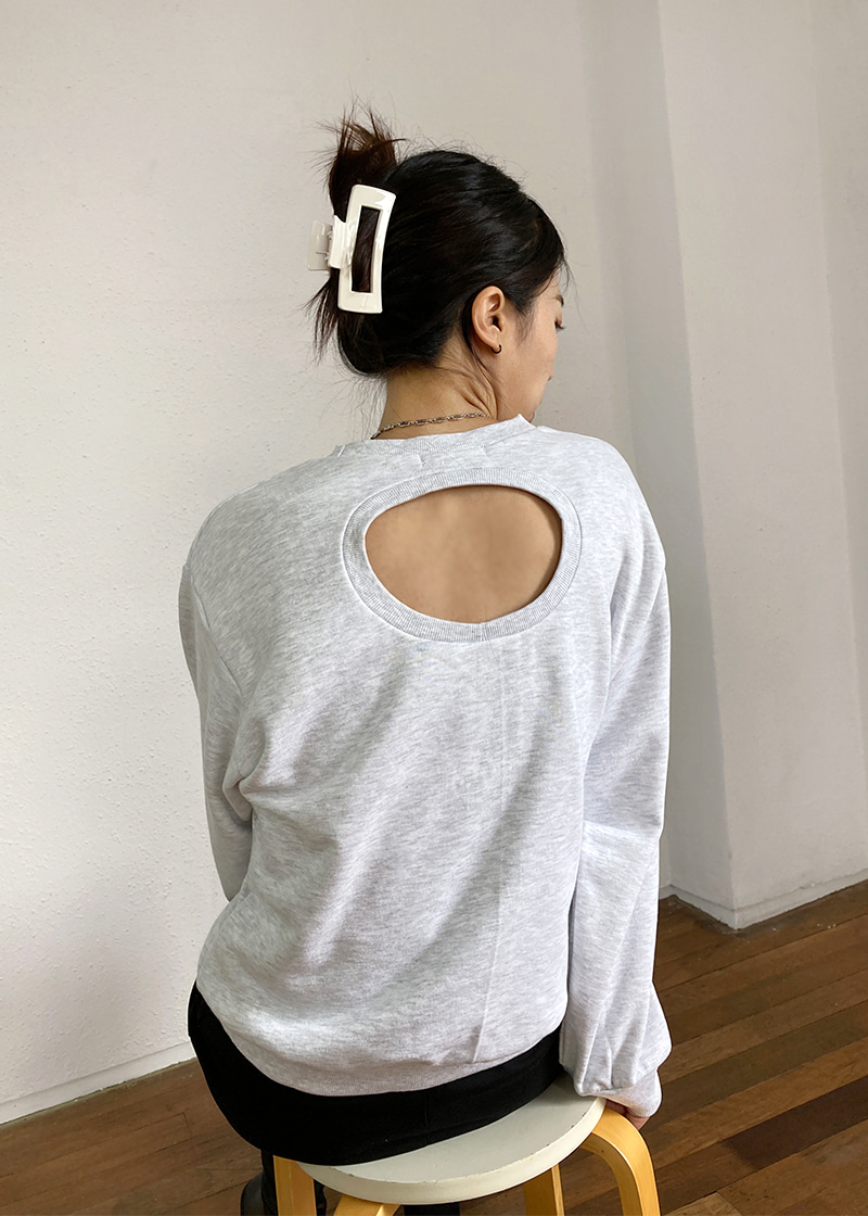 core back hole sweatshirt (2c)
