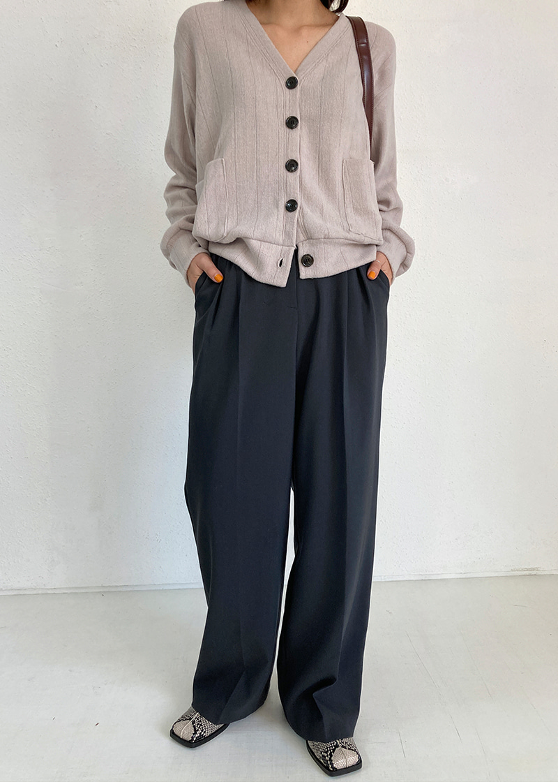 neat pintuck wide pants (2c)