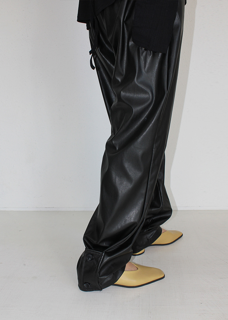 wide or jogger leather pants (2c)
