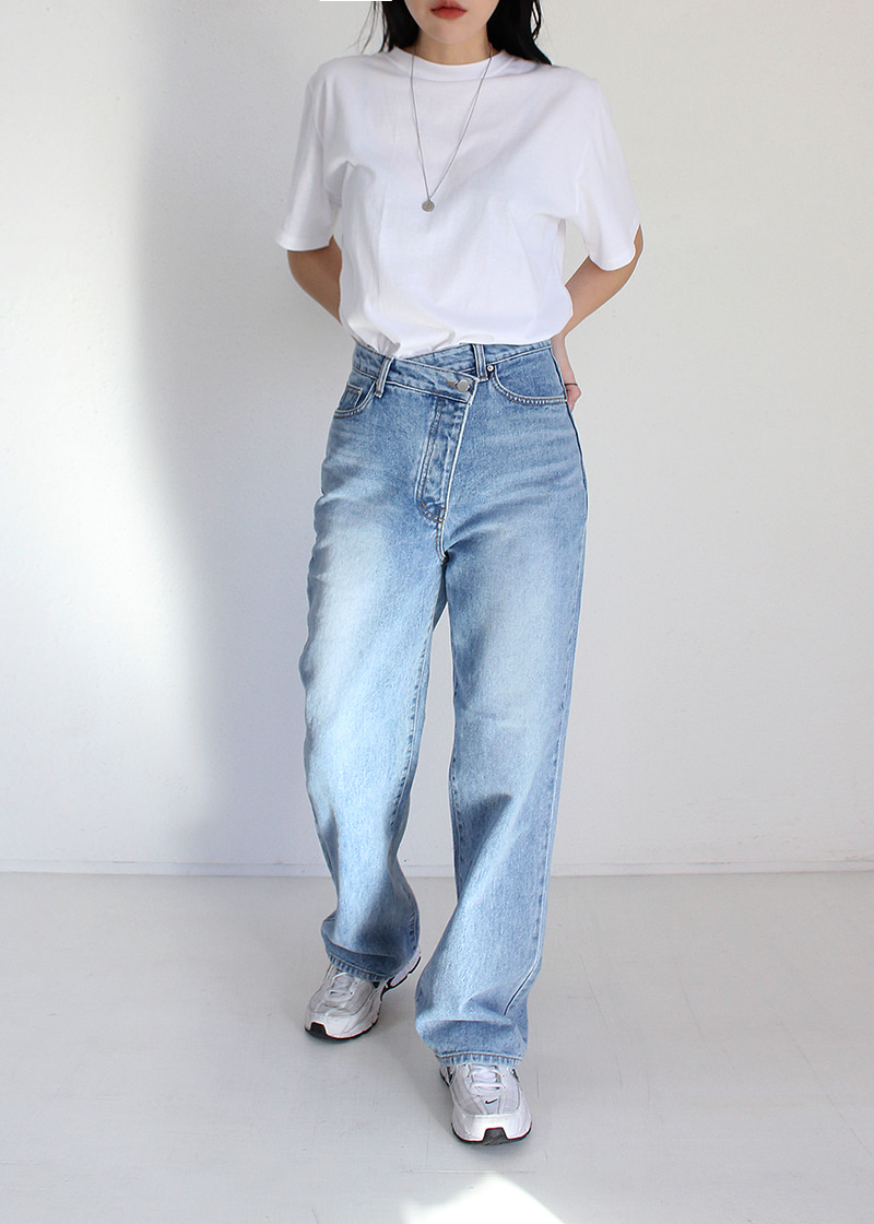 sand unbal button denim pants (s/m)