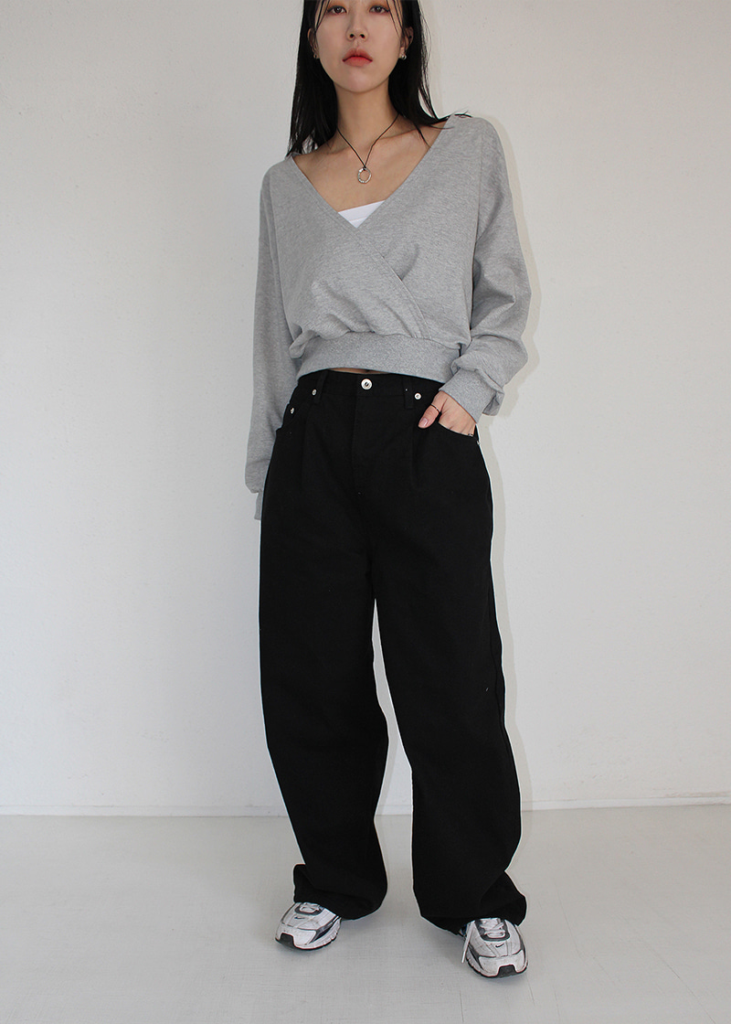 fold cotton relaxed pants (2c)