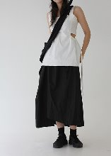 [sale] side waist slit sleeveless(white)