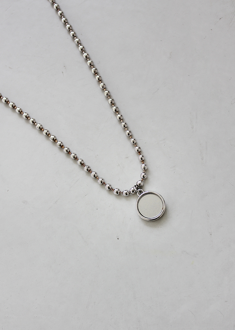 circle mirror pendant necklace