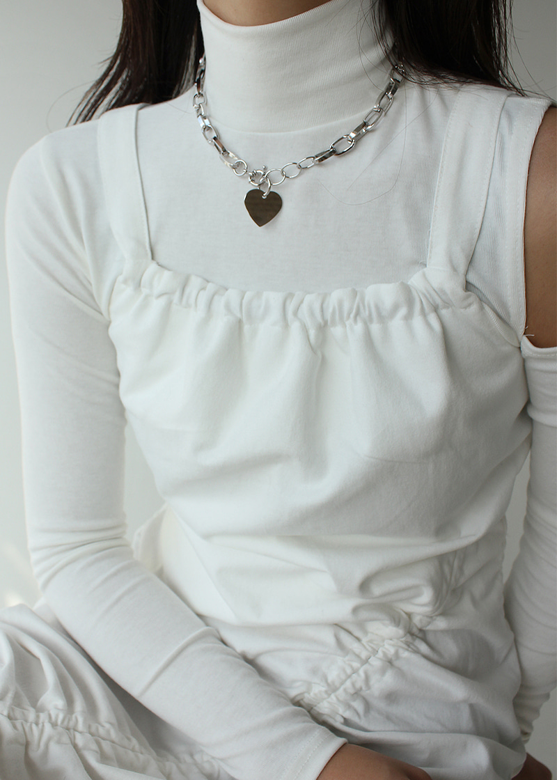 heart pendent chain necklace (2c)