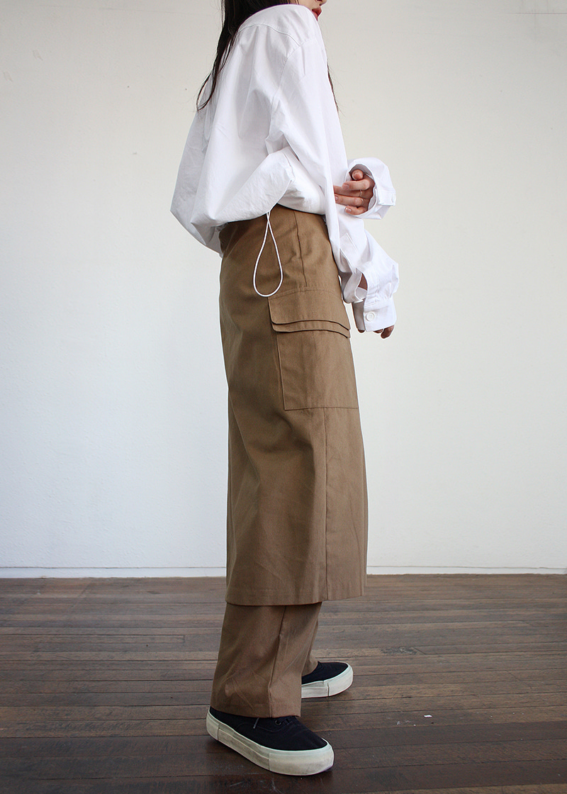 [sale] layered wrap skirt pants (2c)