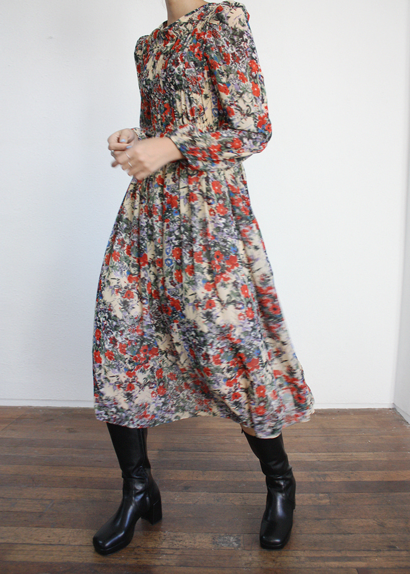 flower pattern shirring ops (2c)