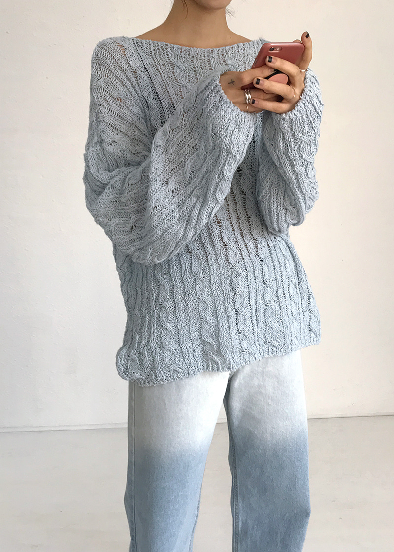 twist see-through knit (3c)