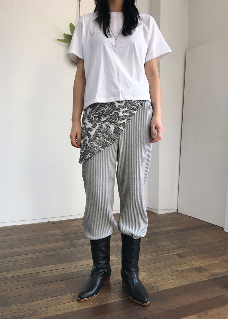 corrugated string pants (2c)