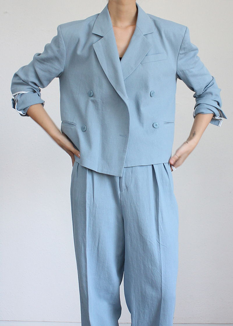 linen double button JK (3c)