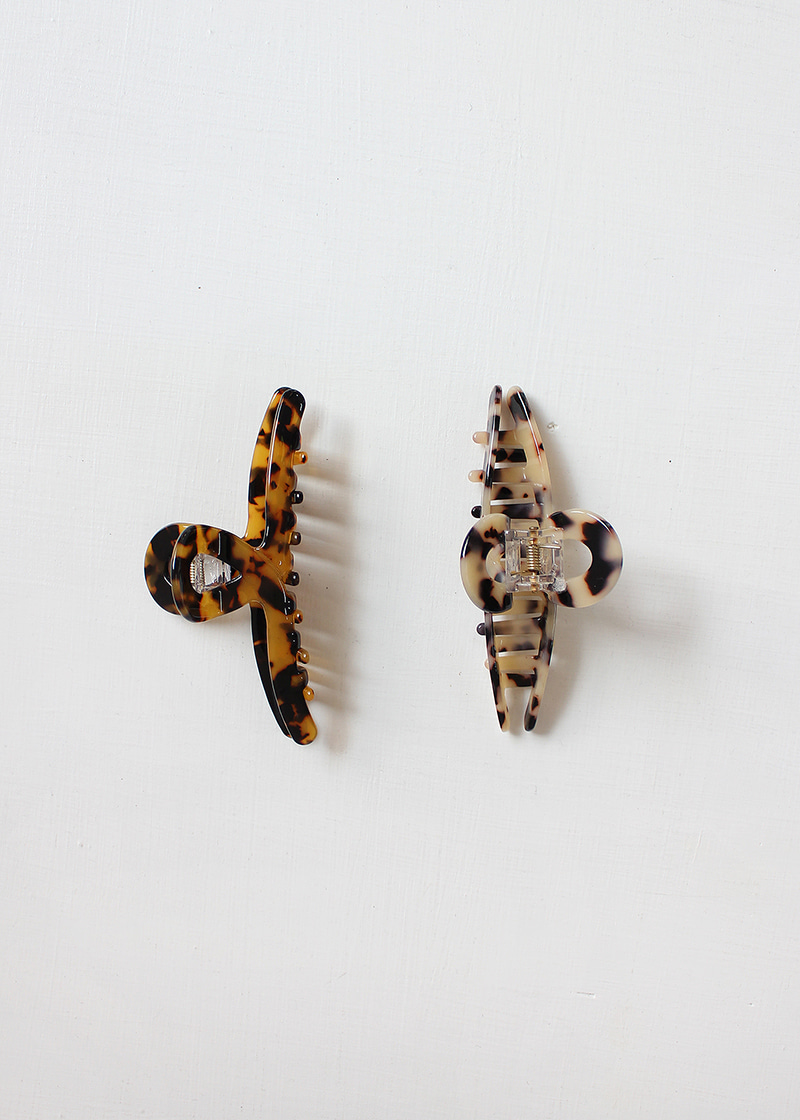 leopard wave claw clip (2c)