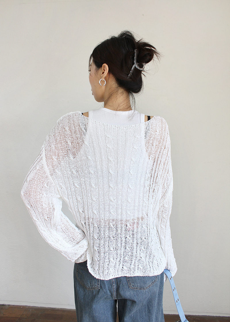summer twist loose fit knit (2c)