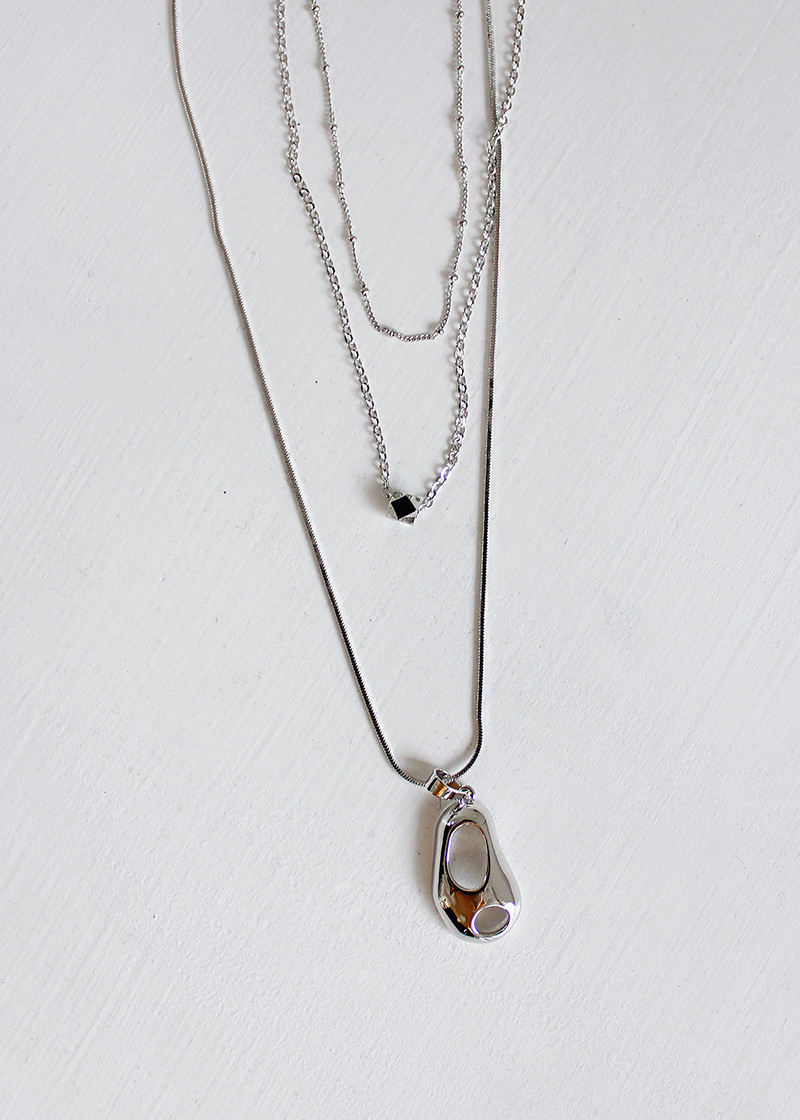 pebble 3 piece layered necklace
