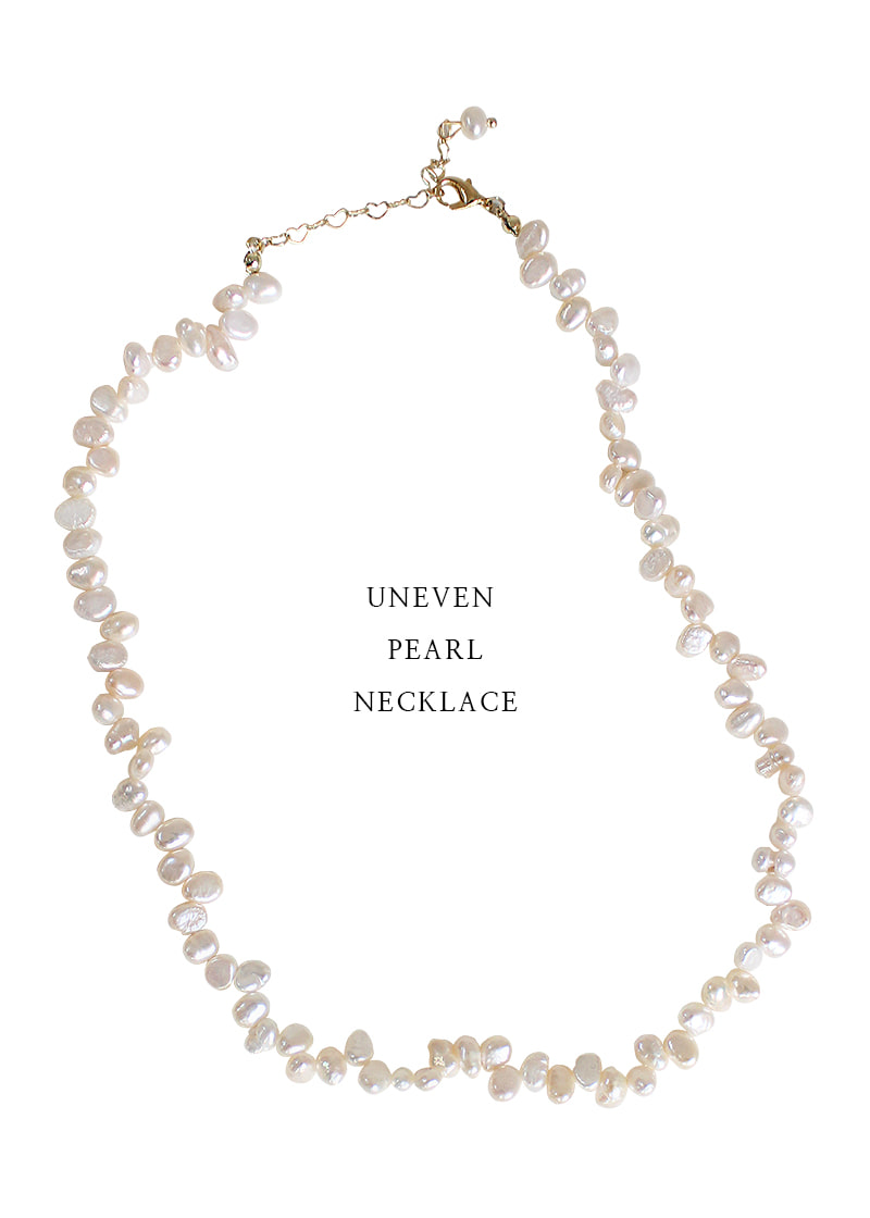 uneven pearl necklace
