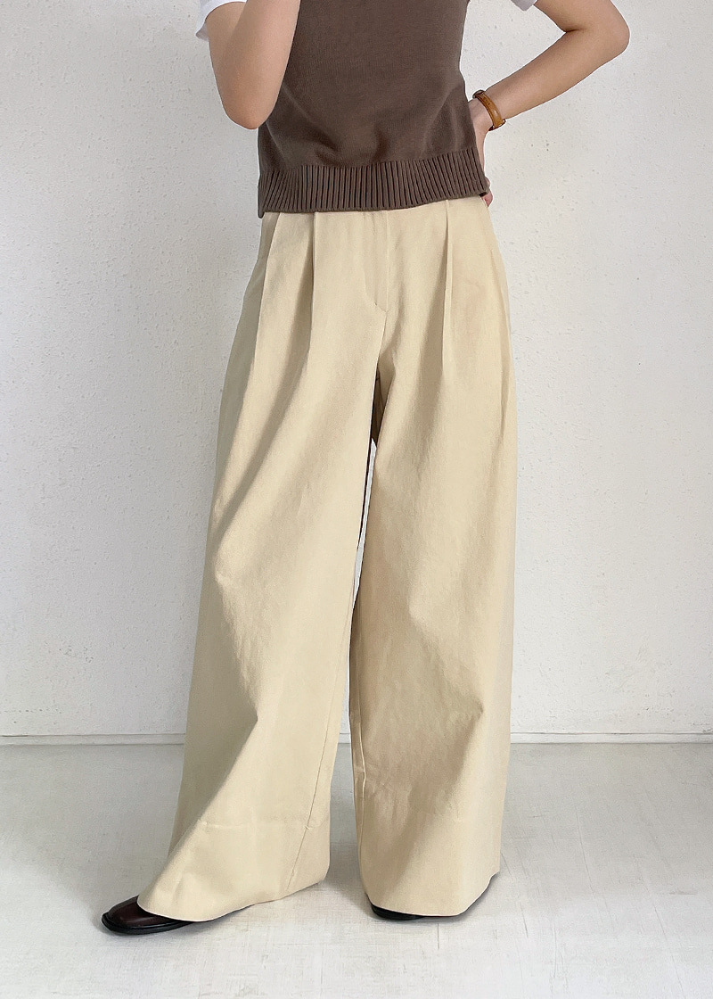 wide roll up pants (2c)